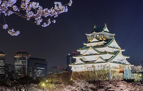 お座敷席からは大阪城をご覧いただけます。写真はイメージなので実際の見え方はご自身の目で確かめてくださいね。